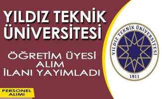 Yıldız Teknik Üniversitesi Öğretim Görevlisi Alım İlanı
