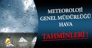 4 Aralık 2016 Tarihli Meteoroloji Genel Müdürlüğü Hava Tahminleri