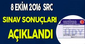8 Ekim 2016 Src Sınav Sonuçları Açıklandı !