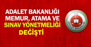 Adalet Bakanlığı Atama ve Sınav Yönetmeliği Değişti