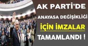 Ak Parti'de Anayasa Değişikliği İçin İmzalar Tamamlandı !