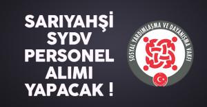 Aksaray Sarıyahşi SYDV personel alımı yapacak