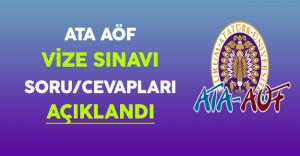 ATA-AÖF Vize Sınavı Soru ve Cevapları Açıklandı !
