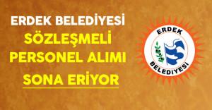 Balıkesir/Erdek Belediyesi En Az Önlisans Mezunu Sözleşmeli Personel Alımında Son Gün !
