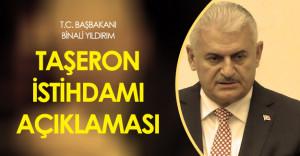 Başbakan Binali Yıldırım'dan Taşeron ve Emekli Promosyon Açıklaması