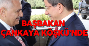 Başbakan Binali Yıldırım Görev Teslimi İçin Ahmet Davutoğlu ile Çankaya Köşkü'nde