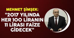 Başbakan Yardımcısı Şimşek'ten faiz harcamaları açıklaması