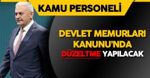 Başbakan Yıldırım'dan '657 Sayılı Devlet Memurları Kanunu' Açıklaması