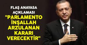 Cumhurbaşkanı Erdoğan'dan anayasa teklifi açıklaması geldi