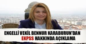 Engelli Milletvekili Bennur Karaburun: EKPSS Sonuçları İçin Biraz Sabır