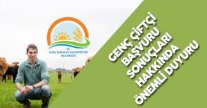 Genç Çiftçi Başvuru Sonuçları Hakkında Önemli Duyuru