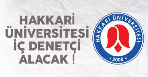 Hakkari Üniversitesi iç denetçi alımı ilanı yayınlandı