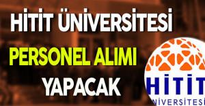 Hitit Üniversitesi Personel Alım İlanı