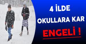 Kar Yağışından Dolayı 4 İlde Okullar Tatil Edildi (6 Aralık 2016 Kar Tatili Olan İl ve İlçeleri)