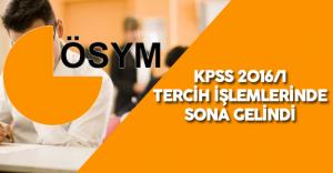 KPSS 2016/1 Tercih İşlemleri Sona Eriyor !