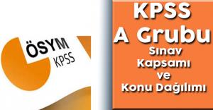 KPSS A Grubu Sınav Kapsamı ve Konu Dağılımı