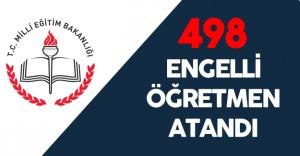 """MEB: """"498 Engelli Öğretmen Atandı"""""""