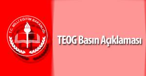 Milli Eğitim Bakanlığı (MEB) 2016 TEOG Basın Açıklaması