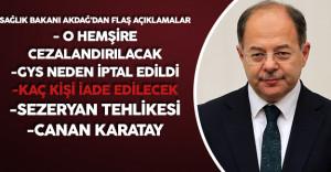 Sağlık Bakanı Recep Akdağ'dan Flaş Açıklamalar ( KHK , GYS , Kağıt Reçeteler , İhraçlar, Sezeryan)
