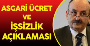 Son Dakika: Müezzinoğlu#039;ndan Asgari Ücret ve İşsizlik Açıklaması