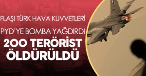 Son Dakika: Türkiye PYD#039;yi Vurdu ! 200#039;e Yakın PKK/PYD Militanı Öldürüldü