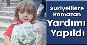 Suriyelilere Ramazan Paketi Dağıtıldı