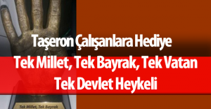 """TBMM'deki Taşeron Firma Çalışanlarına """"Erdoğan'ın Eli Heykeli"""" Hediye Edildi"""