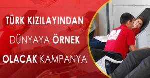 """Türk Kızılayından Örnek Kampanya: """" Vatan sana kanım feda """""""