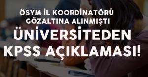 """Üniversiteden Açıklama Geldi :""""16 Ekim KPSS Sağlıklı Şekilde Yapıldı"""""""