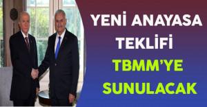 Yeni Anayasa Teklifi TBMM'ye Sunulacak