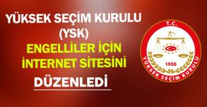 Yüksek Seçim Kurulu (YSK) Engelli Seçmenler İçin İnternet Sitesini Düzenledi