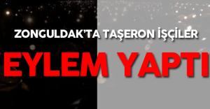 Zonguldak'ta Taşeron Eylemi ! ( TTK İşçileri İşe İade Eylemi Yaptı )