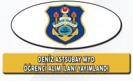 Deniz Astsubay MYO Öğrenci Alım Başvuruları Başladı