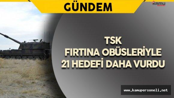 TSK: Cerablus'ta 21 Hedef Daha Vuruldu