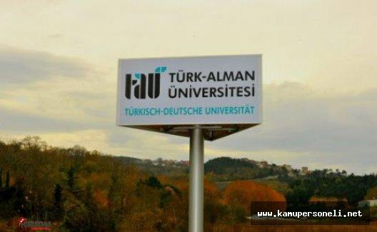 Türk-Alman Üniversitesi Akademik Personel Alımı Yapacak