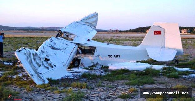 Türk Hava Kurumu Eğitim Uçağı Düştü