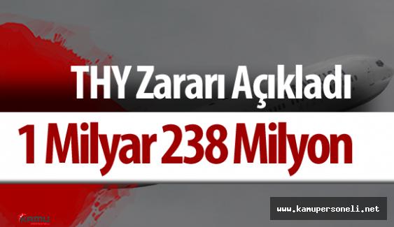 Türk Hava Yolları (THY) 1 Milyar 238 Milyon TL Zarar Açıkladı