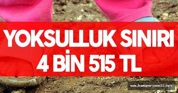 """Türk-İş : """" Yoksulluk Sınırı 4 Bin 515 Lira"""""""