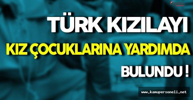 Türk Kızılayından Kız Çocuklarına Yardım