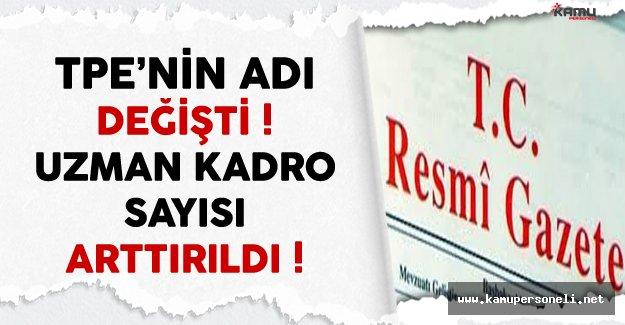Türk Patent Enstitüsü'nün Adı Resmi Gazete'de Yayınlanan Kanun İle Değişti