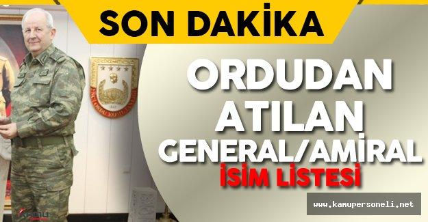 Türk Silahlı Kuvvetleri'nden Atılan General ve Amirallerin İsim Listesi Yayımlandı