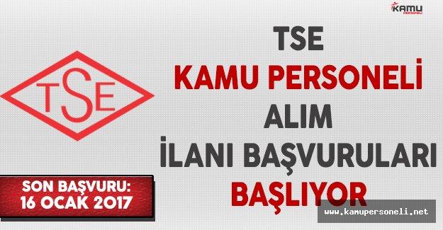 Türk Standartları Enstitüsü (TSE) Kamu Personeli Alımı Başvuruları Başlıyor