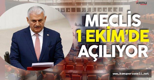 Türkiye Büyük Millet Meclisi (TBMM) 1 Ekim'de Açılıyor ! (Meclisin İlk İşi...)