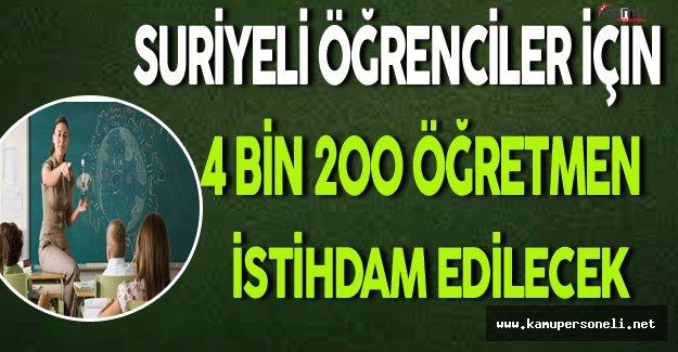 Türkiye'deki Suriyeli Öğrenciler İçin 4 Bin 200 Öğretmen İstihdam Edilecek