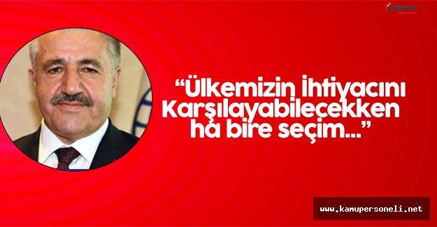 Ulaştırma Bakanı'ndan Erken Seçim Söylentilerine Yanıt Geldi
