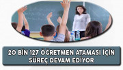 MEB 20 Bin 127 Öğretmen Ataması İçin Süreç Devam Ediyor