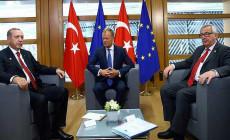 Cumhurbaşkanı Erdoğan AB Konseyi Başkanı İle Görüştü