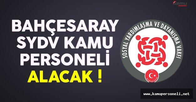 Van Bahçesaray SYDV kamu personeli alım ilanı yayımlandı