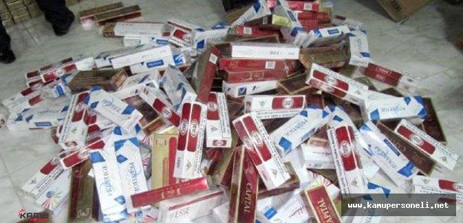 Van'da 320 Bin Kaçak Sigara Ele Geçirildi