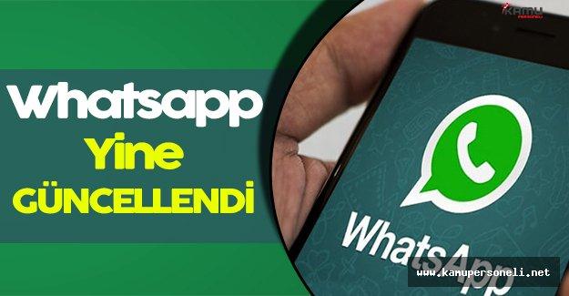 Whatsapp Yine Güncellendi!